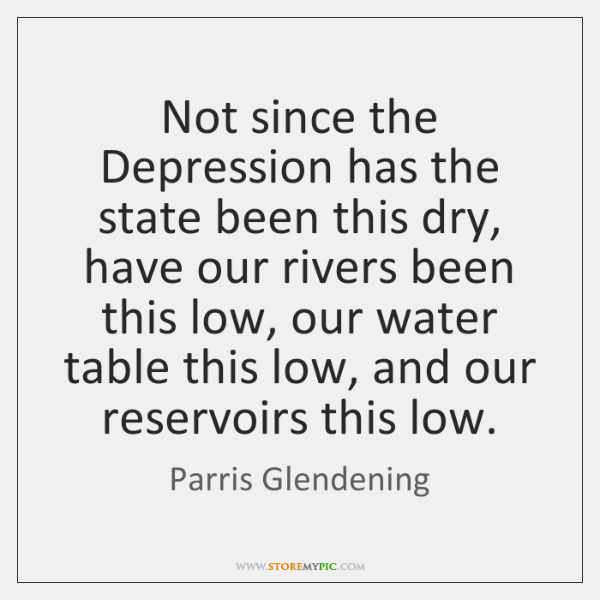 Not since the Depression has the state been this dry, have our ...