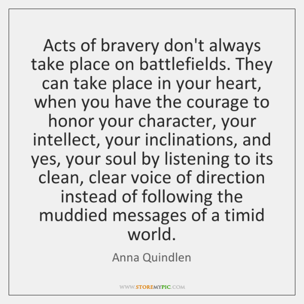 Acts of bravery don't always take place on battlefields. They can take ...
