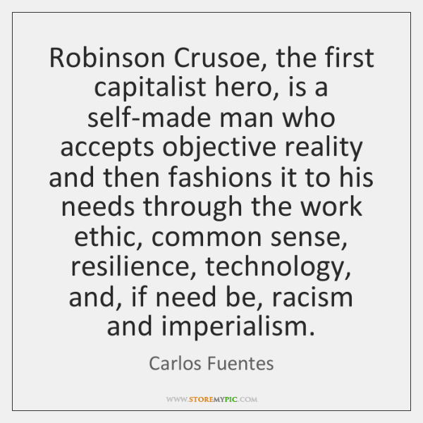 capitalism in robinson crusoe