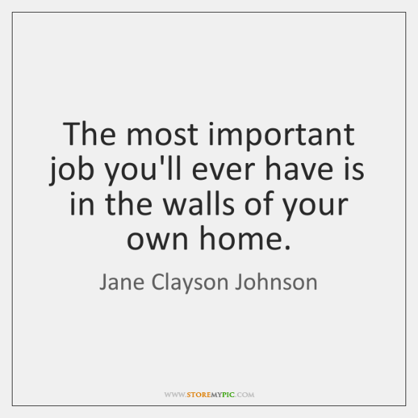 The most important job you'll ever have is in the walls of ...