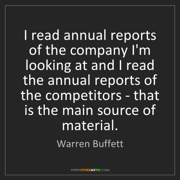 how to read company annual report
