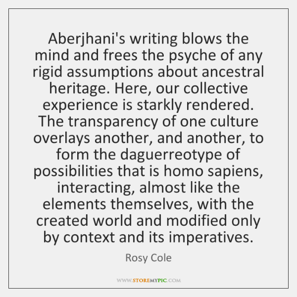 Aberjhani's writing blows the mind and frees the psyche of any rigid ...