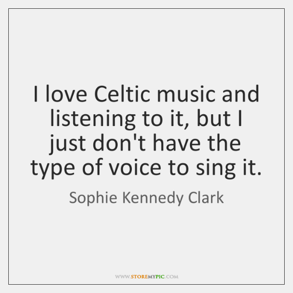 I love Celtic music and listening to it, but I just don't ...