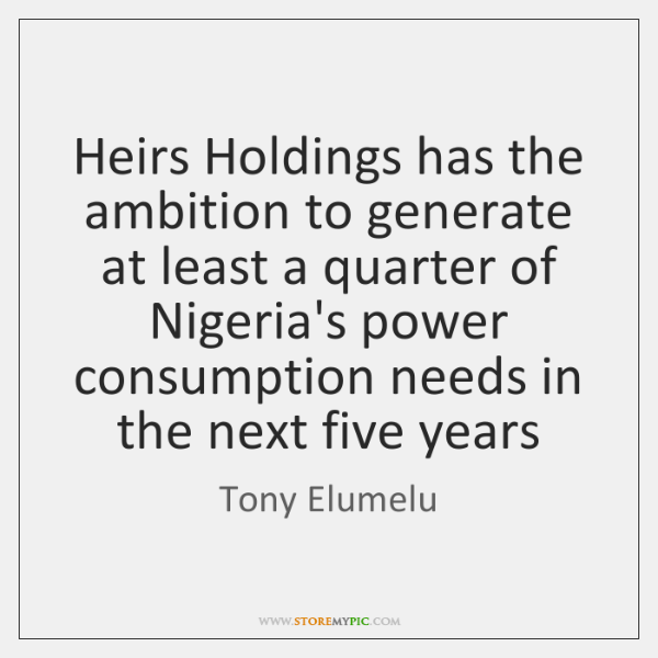 Heirs Holdings has the ambition to generate at least a quarter of ...