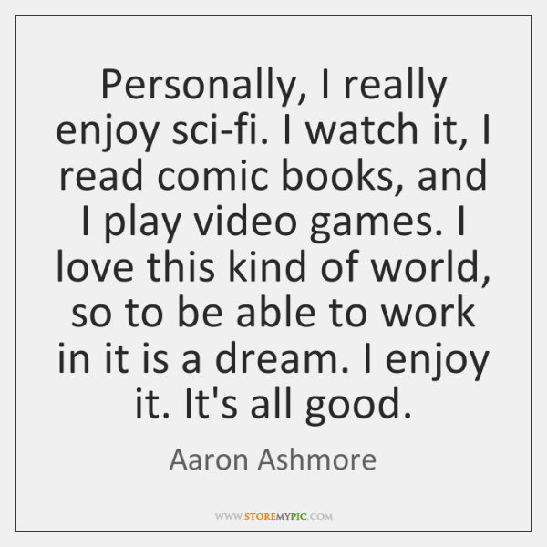 i really enjoy reading