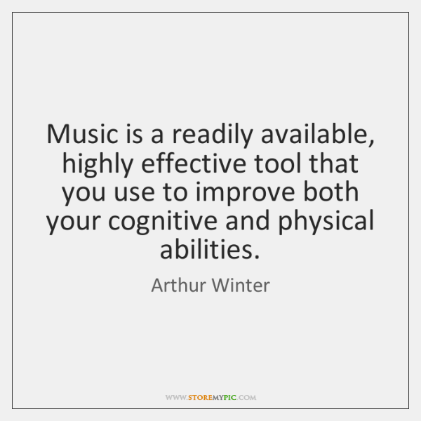 Music is a readily available, highly effective tool that you use to ...