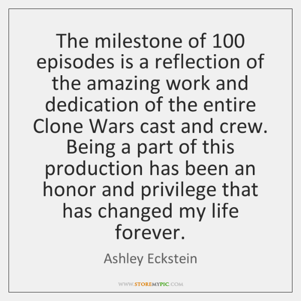 The milestone of 100 episodes is a reflection of the amazing work and ...