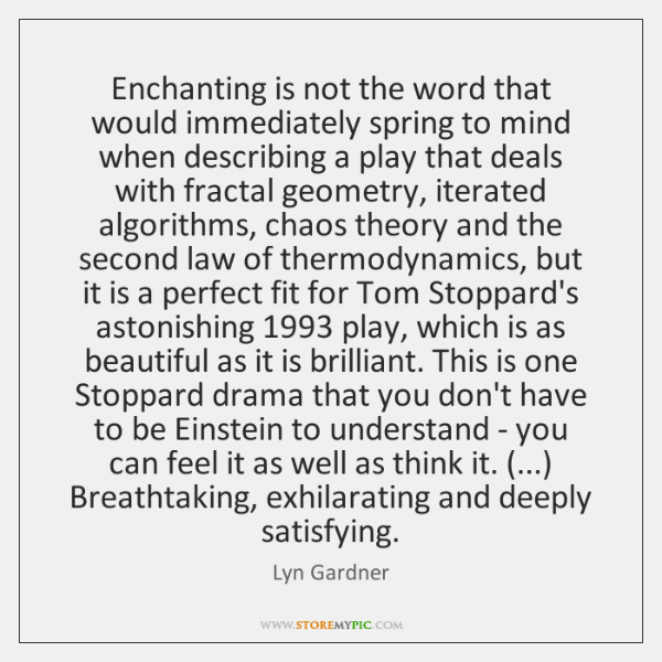 Enchanting is not the word that would immediately spring to mind when ...