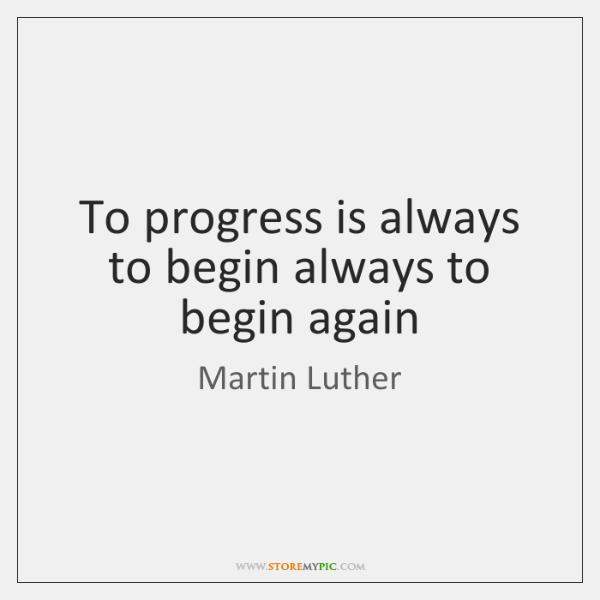 progress is always good