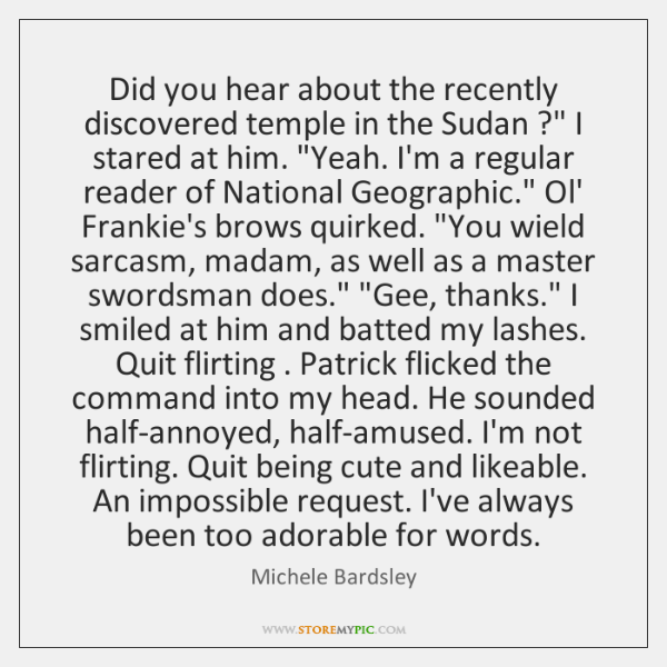 Did you hear about the recently discovered temple in the Sudan ?