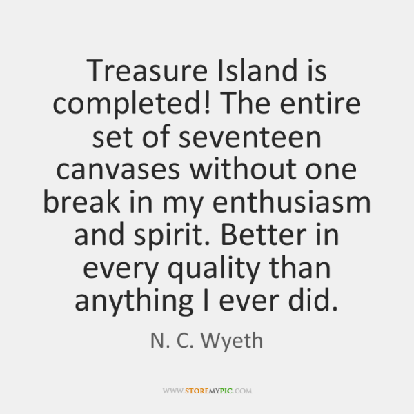Treasure Island is completed! The entire set of seventeen canvases without one ...