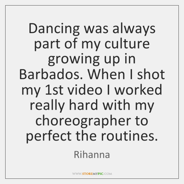 Dancing was always part of my culture growing up in Barbados. When ...