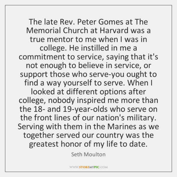 The late Rev. Peter Gomes at The Memorial Church at Harvard was ...