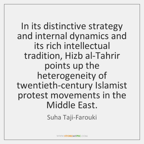 In its distinctive strategy and internal dynamics and its rich intellectual tradition, ...
