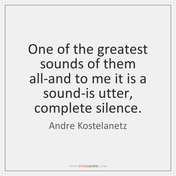 One of the greatest sounds of them all-and to me it is ...