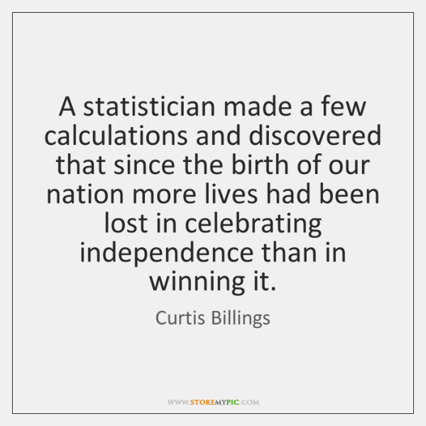 A statistician made a few calculations and discovered that since the birth ...