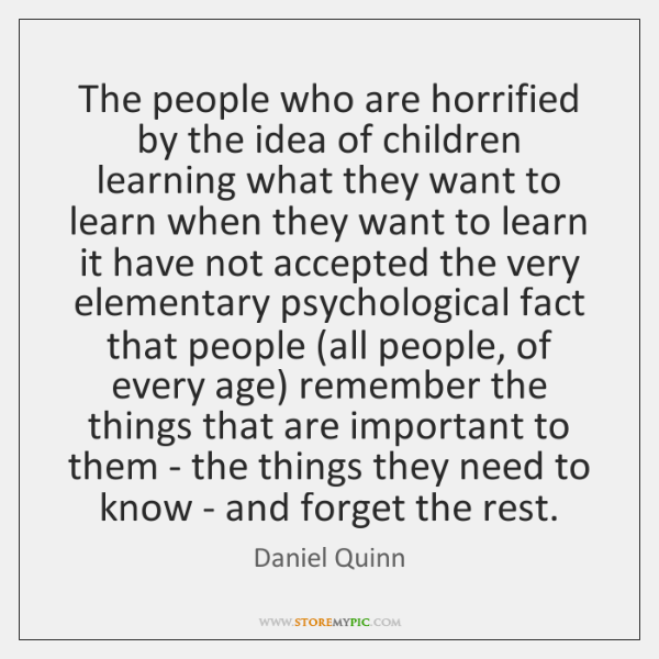 The people who are horrified by the idea of children learning what ...