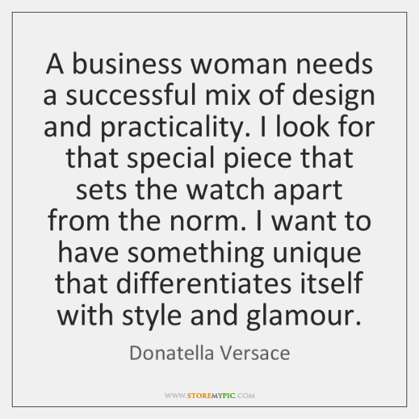 A business woman needs a successful mix of design and practicality. I ...
