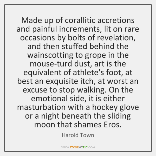 Made up of corallitic accretions and painful increments, lit on rare occasions ...
