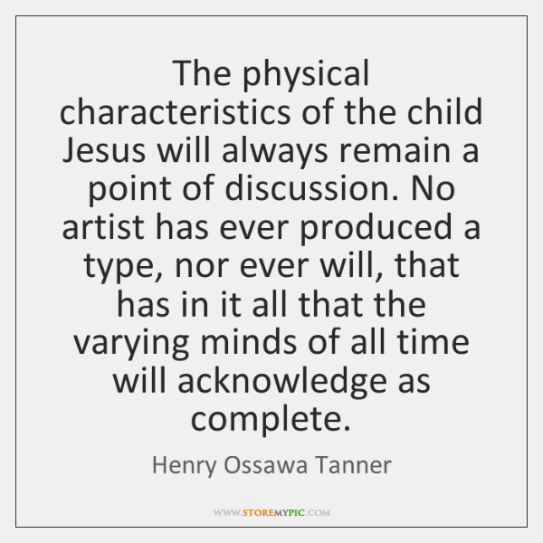 The physical characteristics of the child Jesus will always remain a point ...