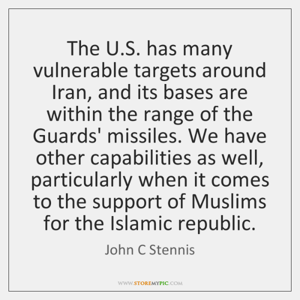 The U.S. has many vulnerable targets around Iran, and its bases ...