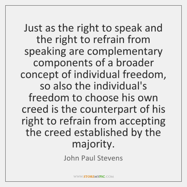 Just as the right to speak and the right to refrain from ...