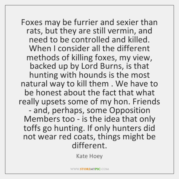 Foxes may be furrier and sexier than rats, but they are still ...
