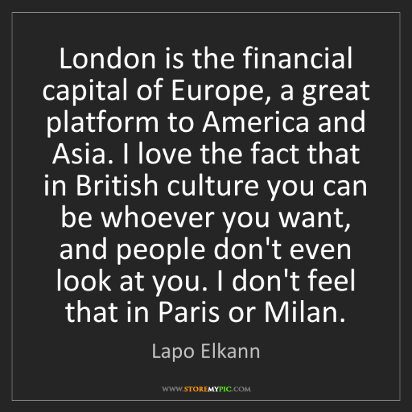 Lapo Elkann: London is the financial capital of Europe, a great platform...