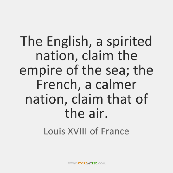The English, a spirited nation, claim the empire of the sea; the ...