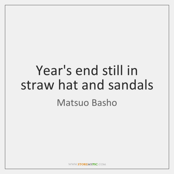 Year\'s end still in straw hat and sandals - StoreMyPic