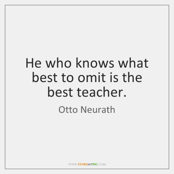 He who knows what best to omit is the best teacher.