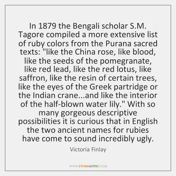 In 1879 the Bengali scholar S.M. Tagore compiled a more extensive list ...
