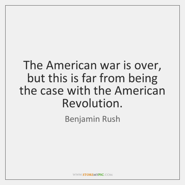 The American war is over, but this is far from being the ...