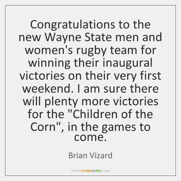 Congratulations to the new Wayne State men and women's rugby team for ...