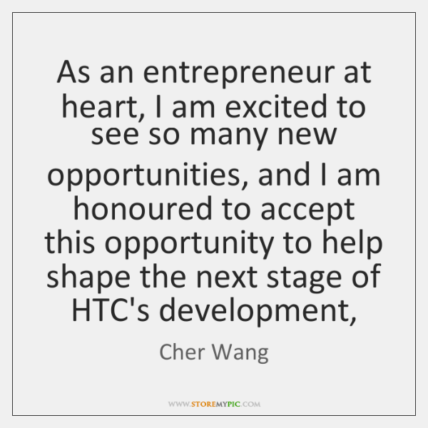 As an entrepreneur at heart, I am excited to see so many ...
