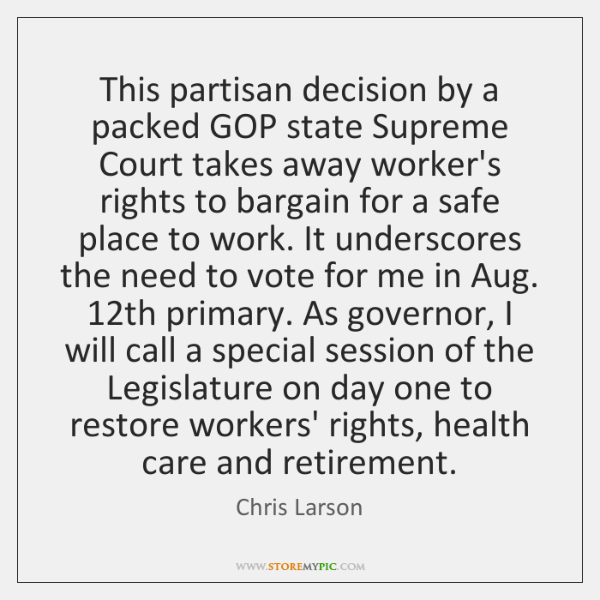 This partisan decision by a packed GOP state Supreme Court takes away ...
