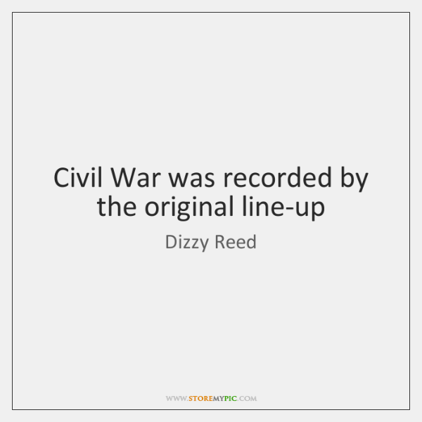 Civil War was recorded by the original line-up