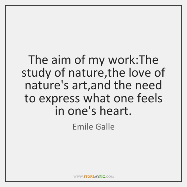 The aim of my work:The study of nature,the love of ...