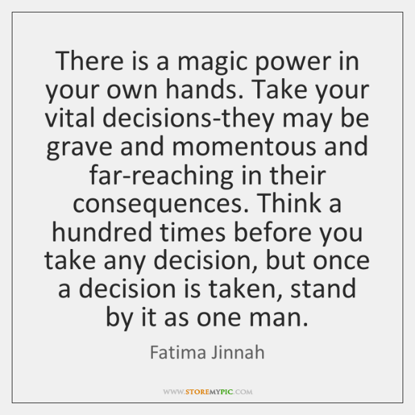 There is a magic power in your own hands. Take your vital ...