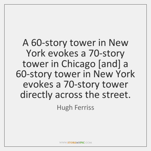 A 60-story tower in New York evokes a 70-story tower in Chicago [...