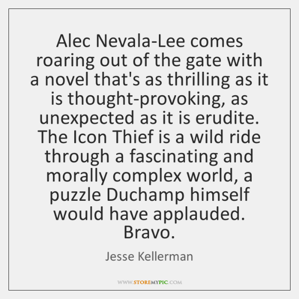 Alec Nevala-Lee comes roaring out of the gate with a novel that's ...