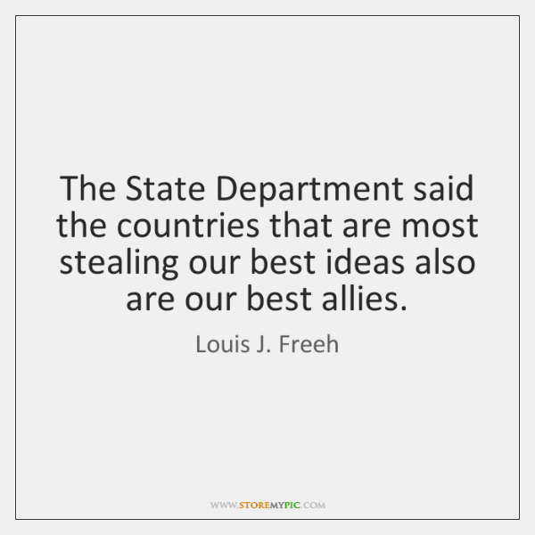 The State Department said the countries that are most stealing our best ...