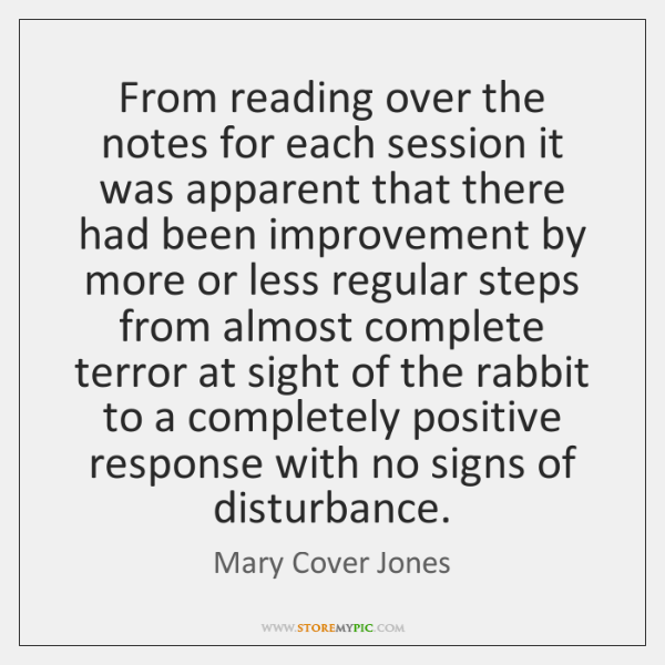 From reading over the notes for each session it was apparent that ...