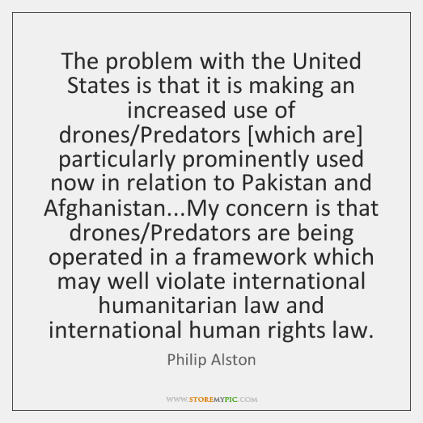 The problem with the United States is that it is making an ...