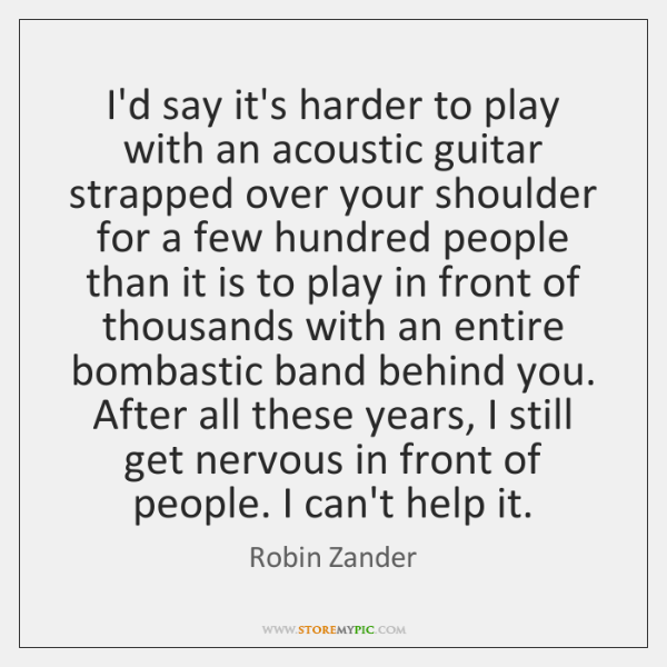 I'd say it's harder to play with an acoustic guitar strapped over ...