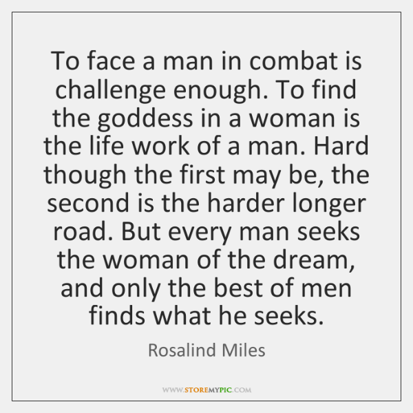 To face a man in combat is challenge enough. To find the ...