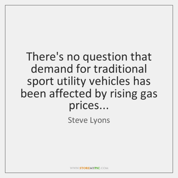There's no question that demand for traditional sport utility vehicles has been ...