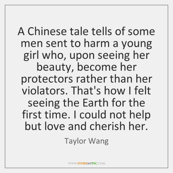 A Chinese tale tells of some men sent to harm a young ...