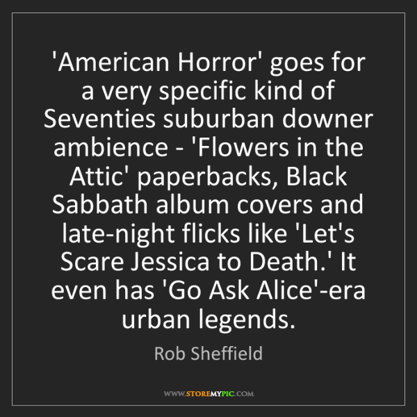 Rob Sheffield: 'American Horror' goes for a very specific kind of Seventies...