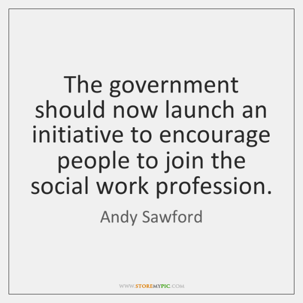 The government should now launch an initiative to encourage people to join ...